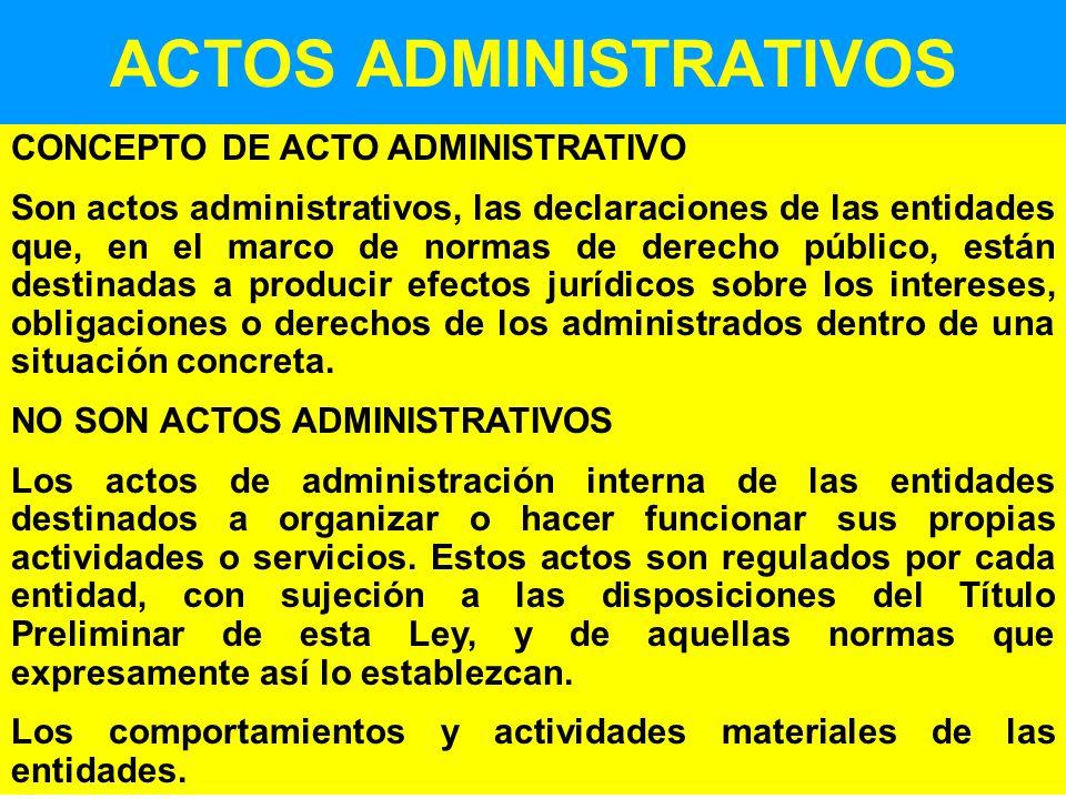 ACTOS ADMINISTRATIVOS