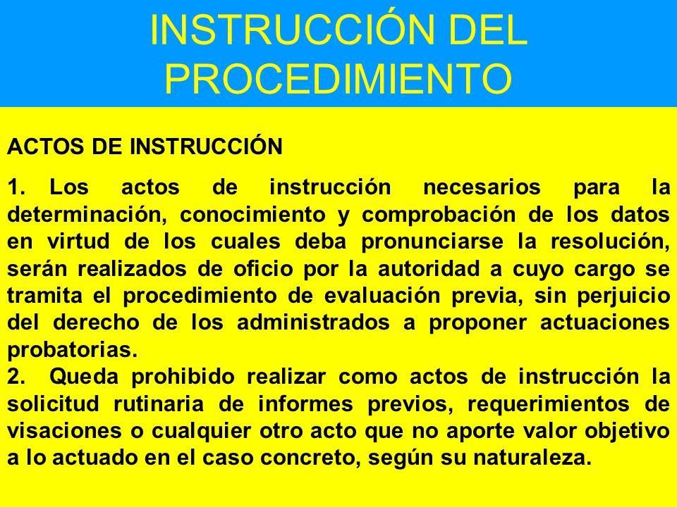 INSTRUCCIÓN DEL PROCEDIMIENTO