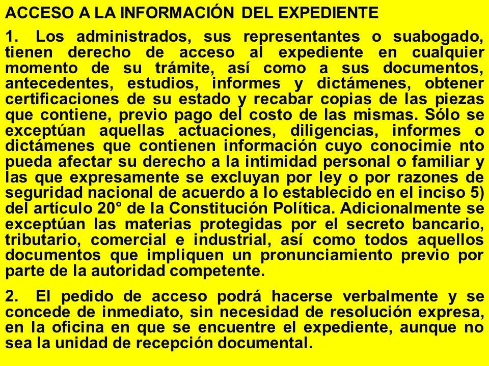 ACCESO A LA INFORMACIÓN DEL EXPEDIENTE