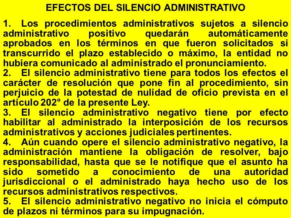 EFECTOS DEL SILENCIO ADMINISTRATIVO