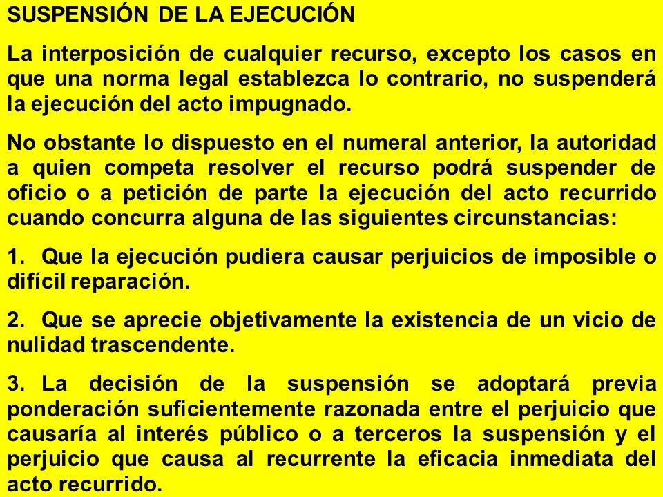 SUSPENSIÓN DE LA EJECUCIÓN