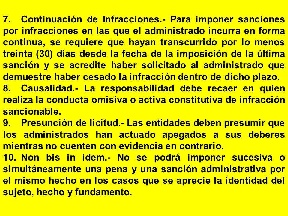 7. Continuación de Infracciones