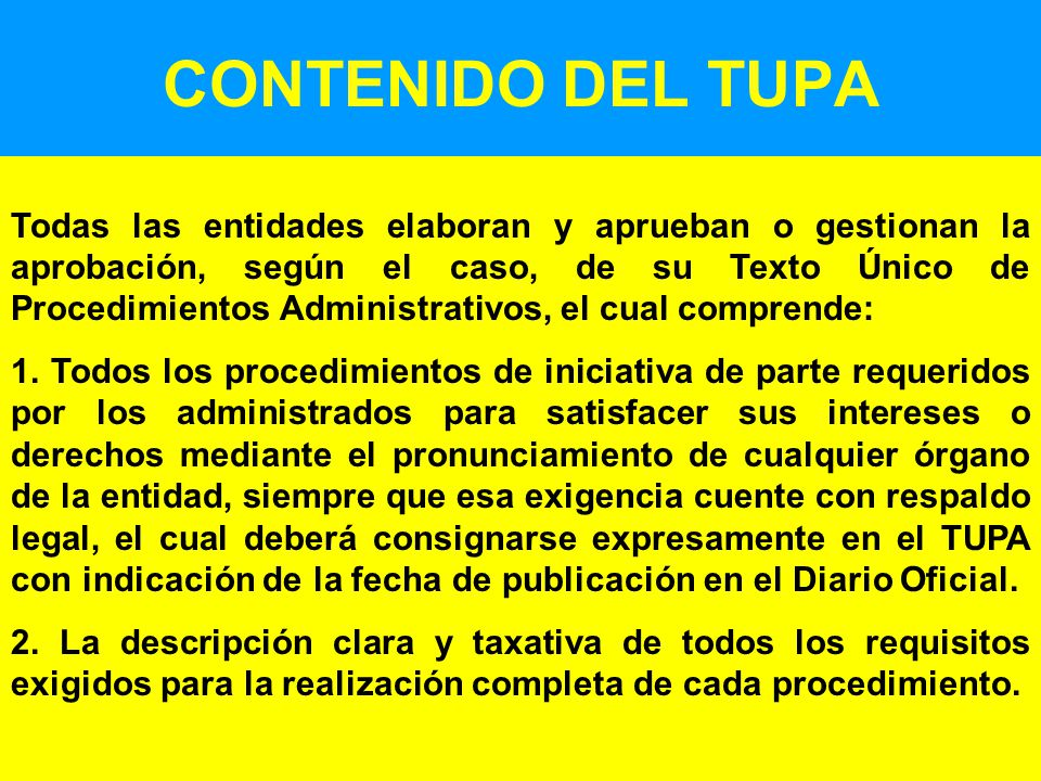 CONTENIDO DEL TUPA