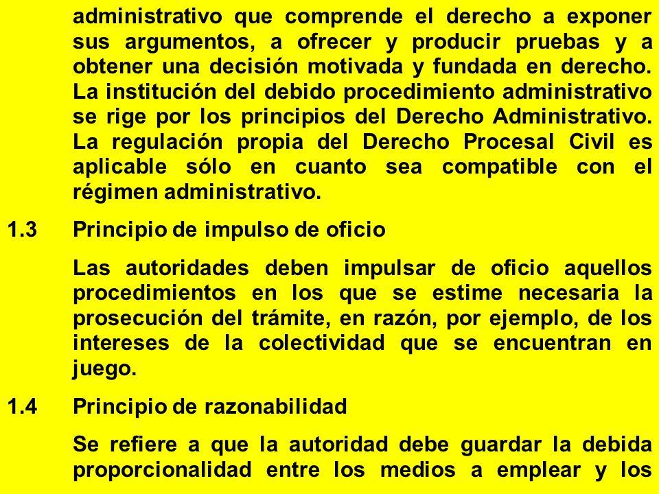 administrativo que comprende el derecho a exponer