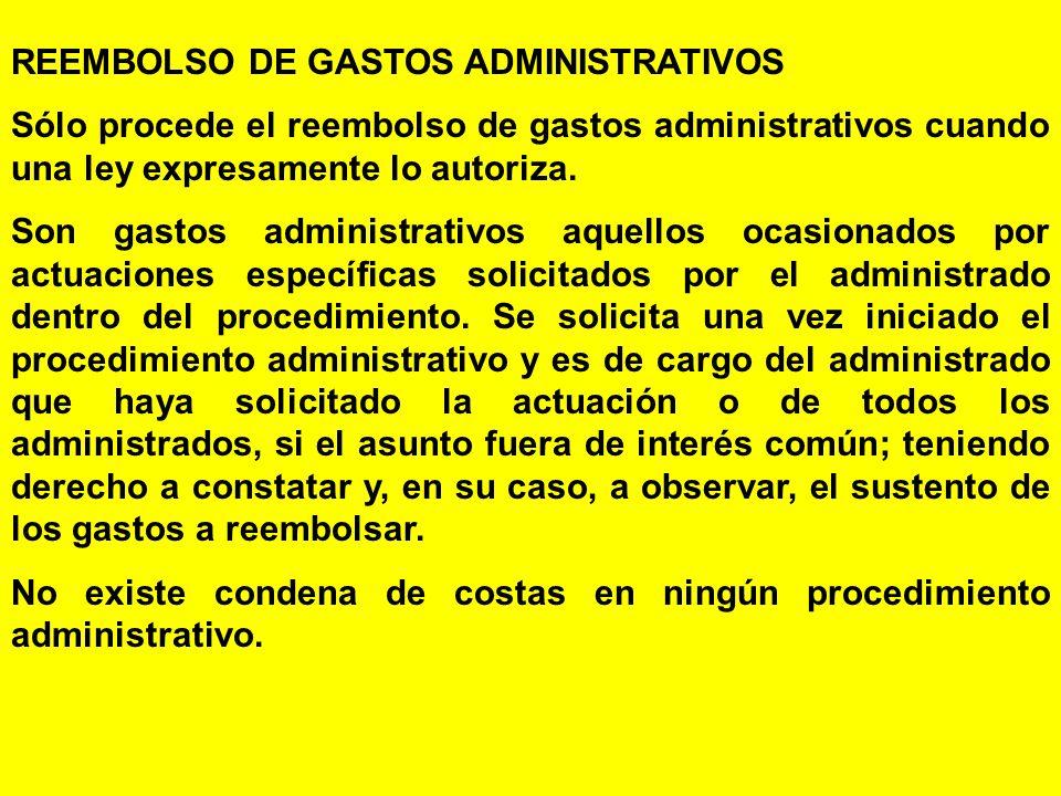 REEMBOLSO DE GASTOS ADMINISTRATIVOS