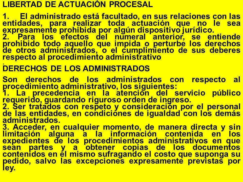 LIBERTAD DE ACTUACIÓN PROCESAL