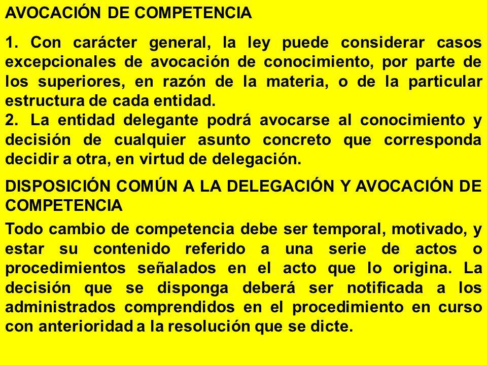 AVOCACIÓN DE COMPETENCIA