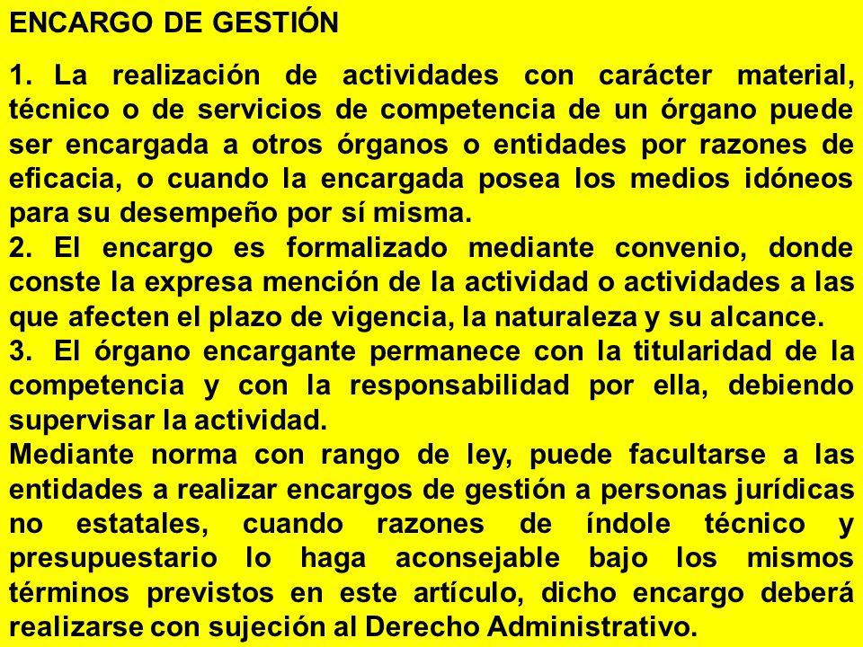 ENCARGO DE GESTIÓN