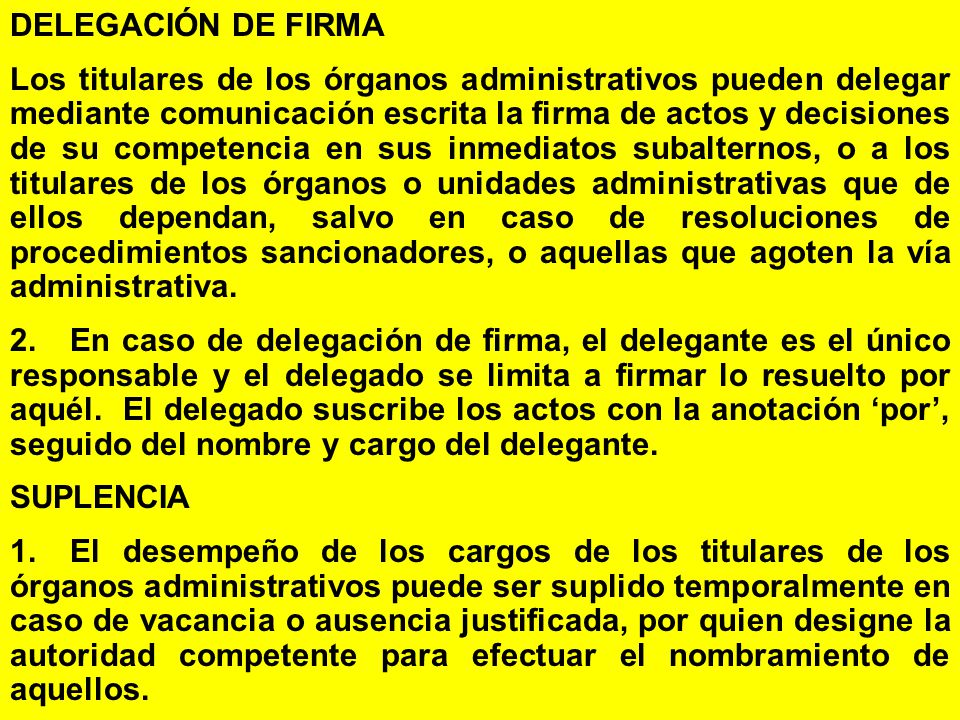 DELEGACIÓN DE FIRMA