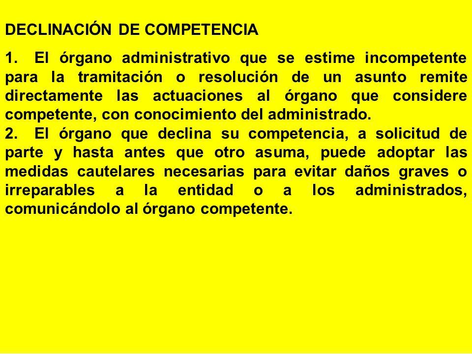 DECLINACIÓN DE COMPETENCIA