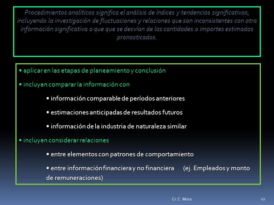 aplicar en las etapas de planeamiento y conclusión