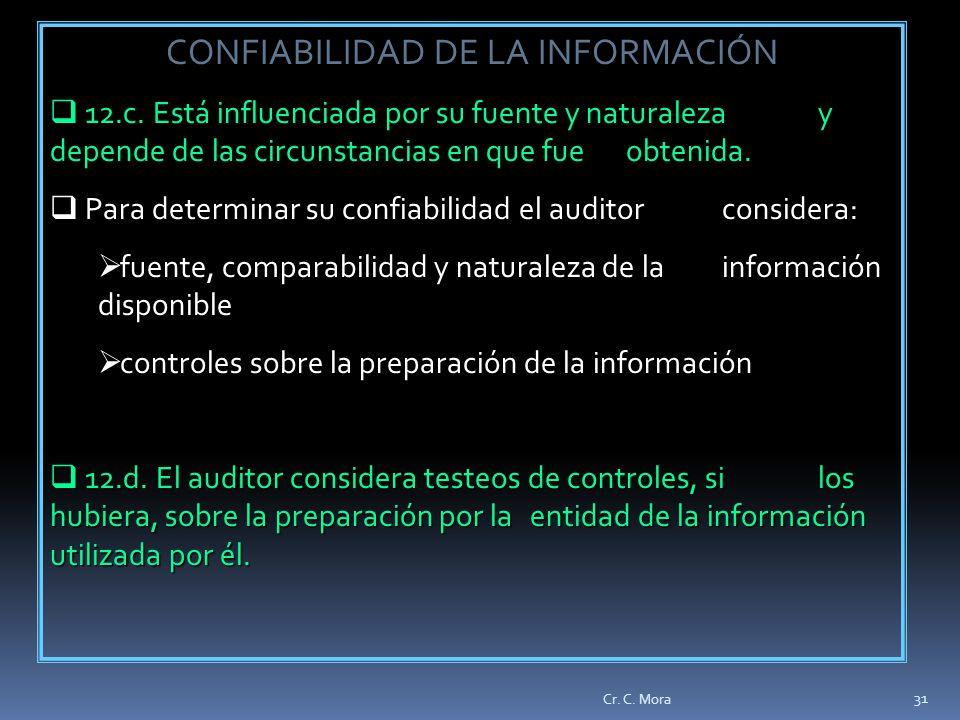 CONFIABILIDAD DE LA INFORMACIÓN