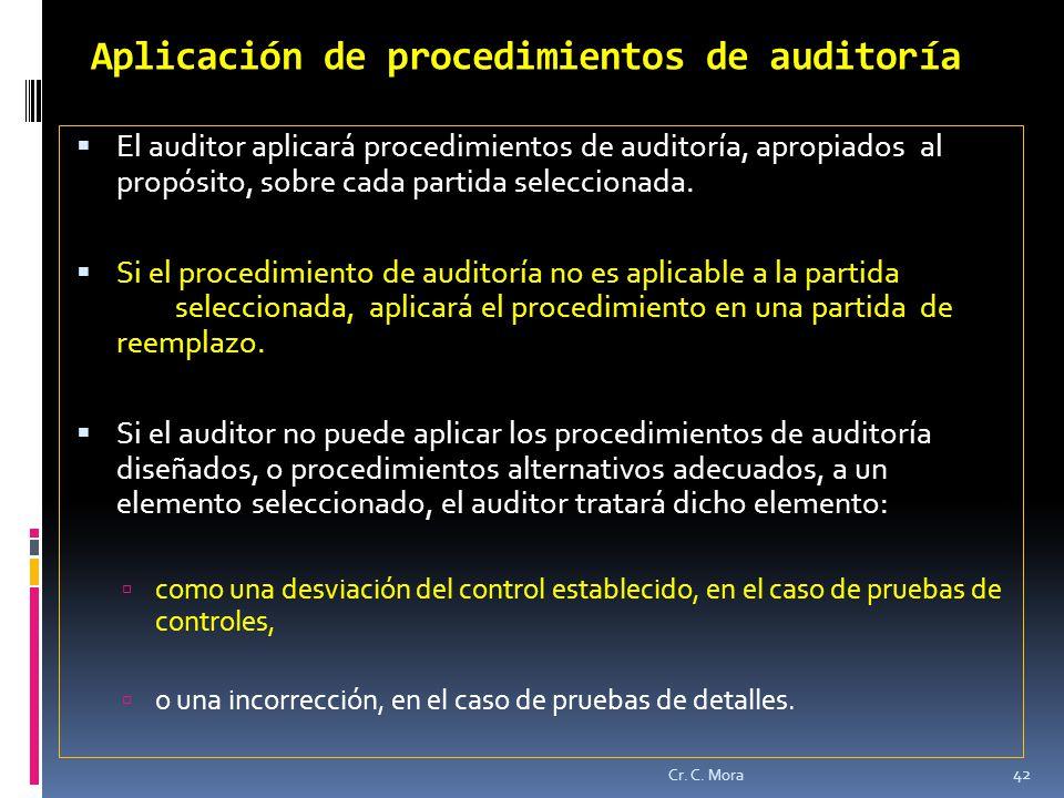 Aplicación de procedimientos de auditoría