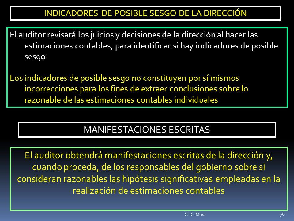MANIFESTACIONES ESCRITAS