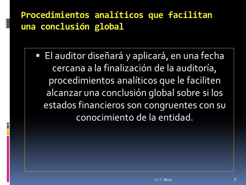 Procedimientos analíticos que facilitan una conclusión global