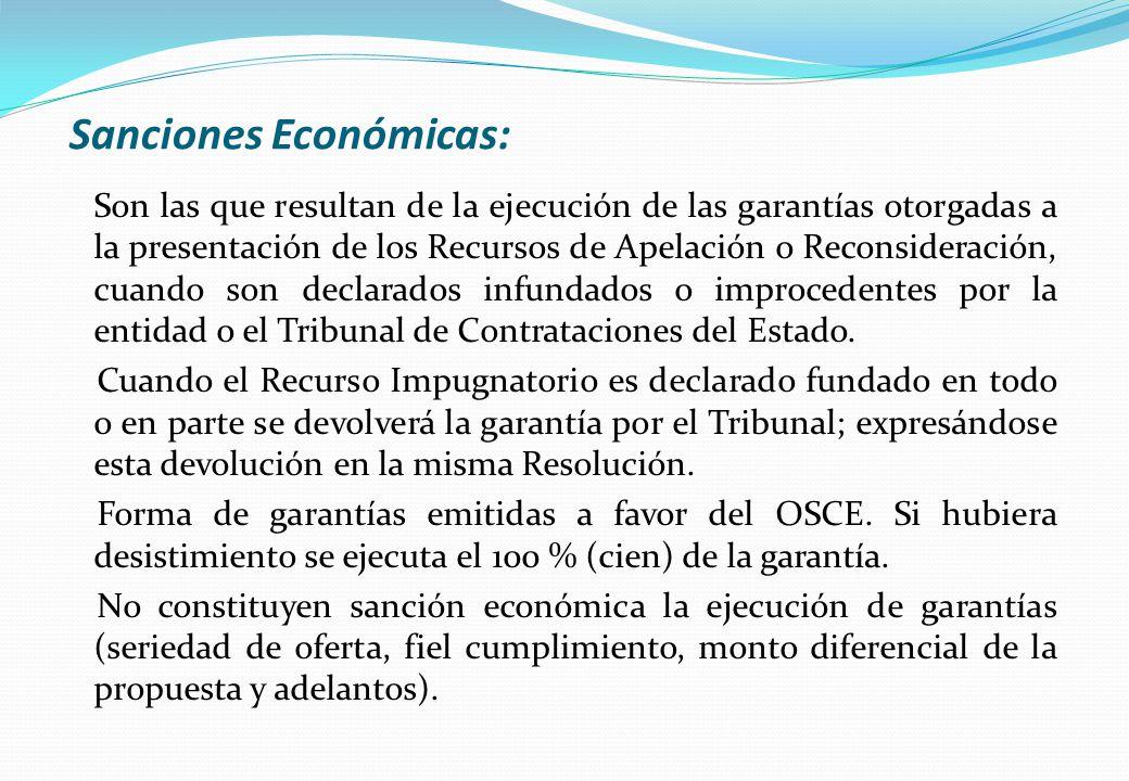 Sanciones Económicas: