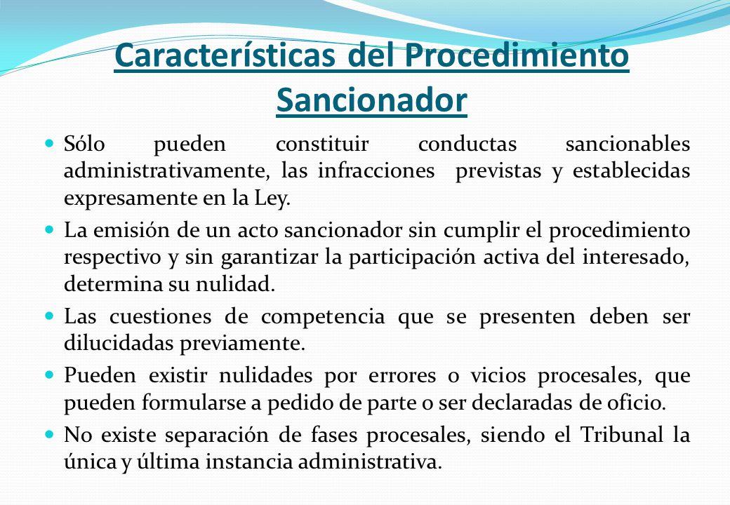 Características del Procedimiento Sancionador