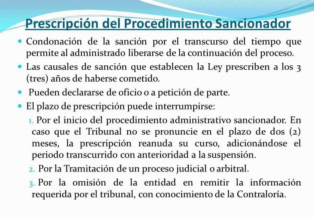 Prescripción del Procedimiento Sancionador