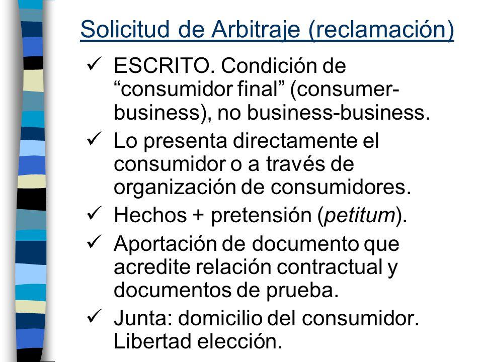 Solicitud de Arbitraje (reclamación)