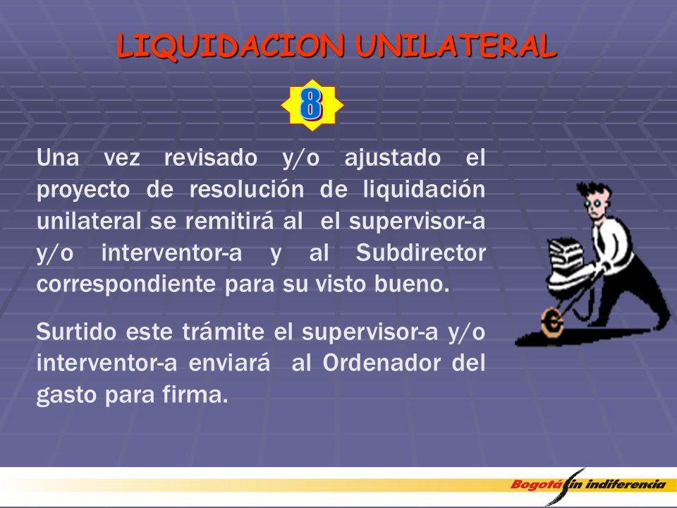 LIQUIDACION UNILATERAL
