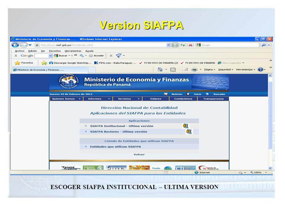 ESCOGER SIAFPA INSTITUCIONAL – ULTIMA VERSION
