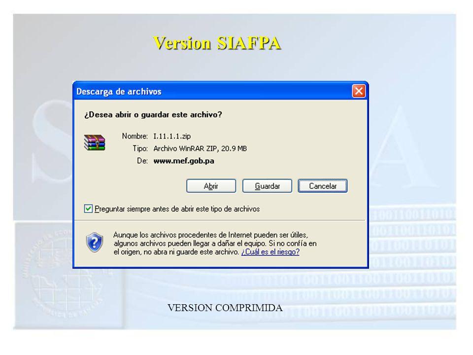 Version SIAFPA VERSION COMPRIMIDA