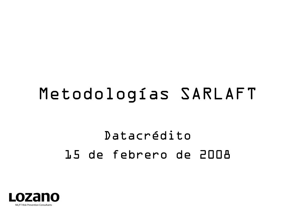 Datacrédito 15 de febrero de 2008