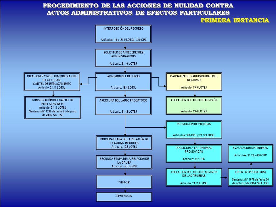 PROCEDIMIENTO DE LAS ACCIONES DE NULIDAD CONTRA