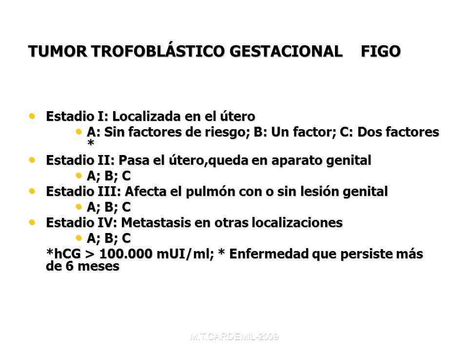 TUMOR TROFOBLÁSTICO GESTACIONAL FIGO
