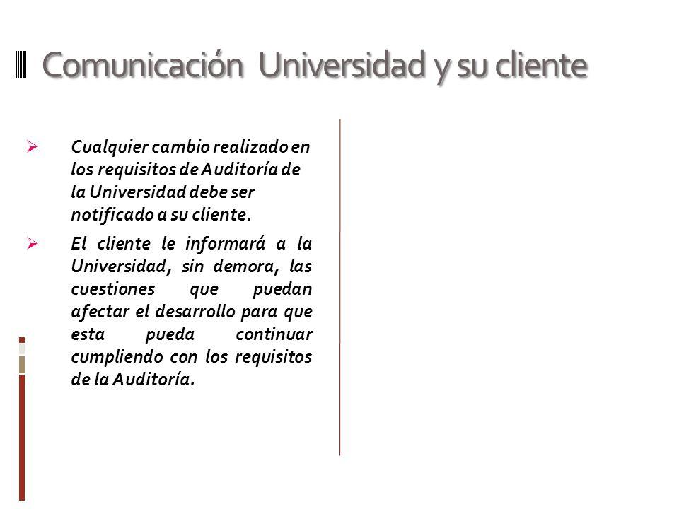 Comunicación Universidad y su cliente