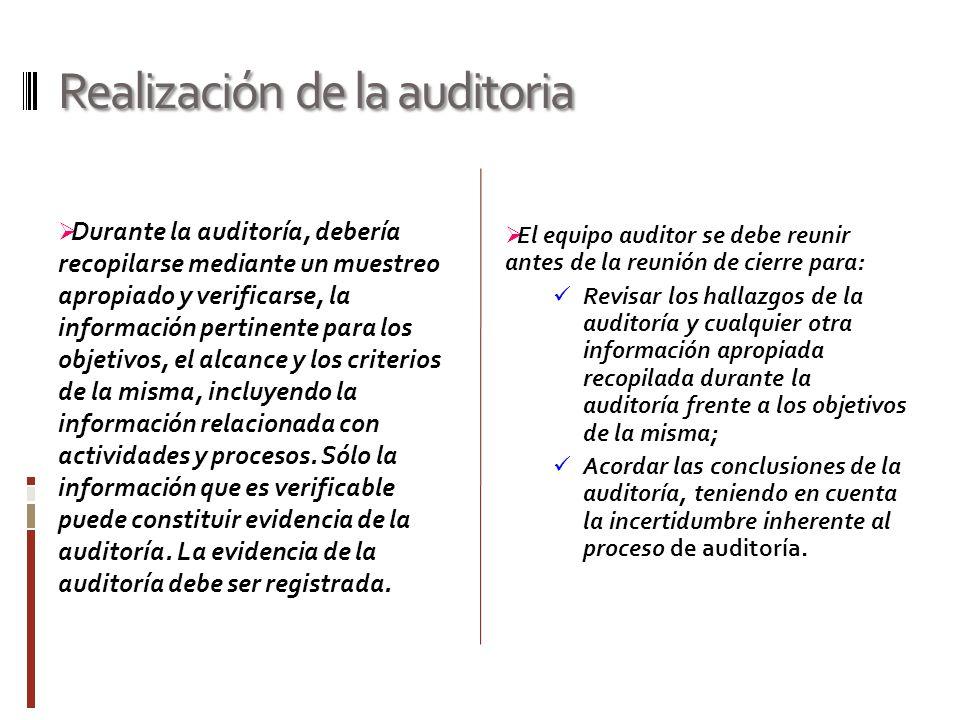 Realización de la auditoria