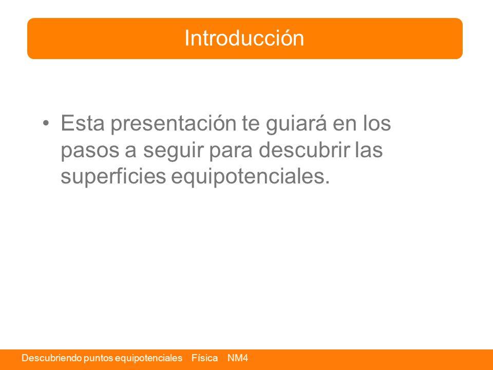 Introducción Esta presentación te guiará en los pasos a seguir para descubrir las superficies equipotenciales.