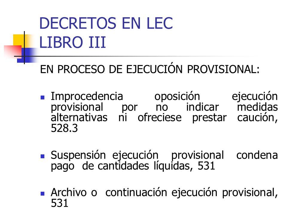 DECRETOS EN LEC LIBRO III