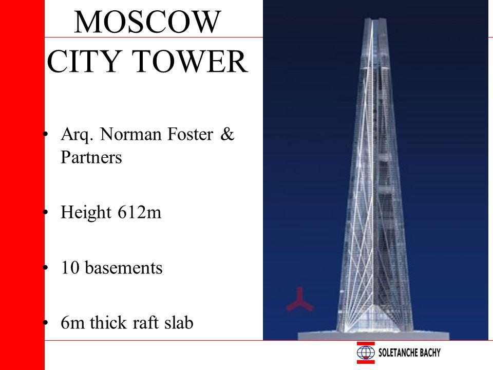 MOSCOW CITY TOWER Arq. Norman Foster & Partners Height 612m