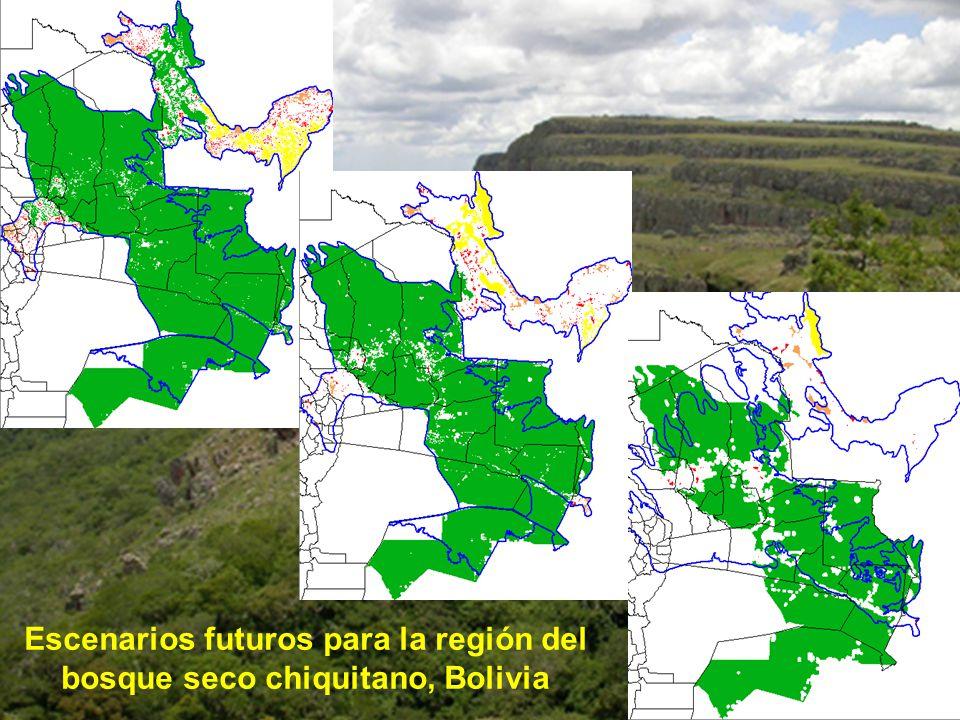 Escenarios futuros para la región del bosque seco chiquitano, Bolivia