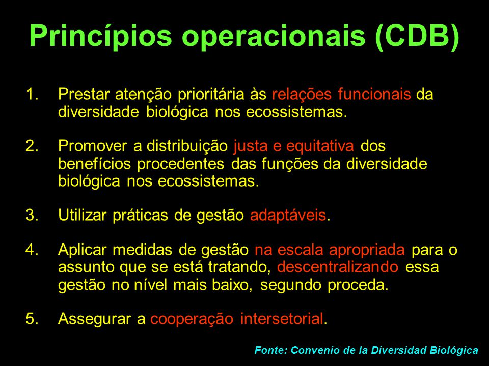 Princípios operacionais (CDB)