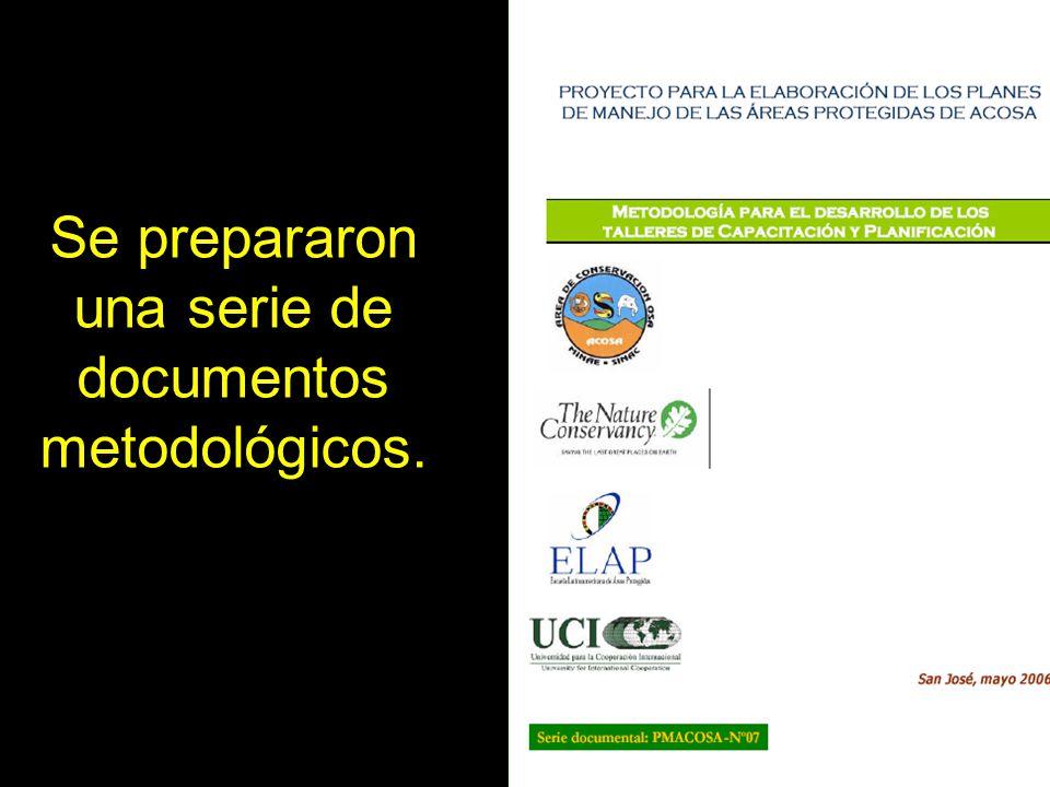 Se prepararon una serie de documentos metodológicos.