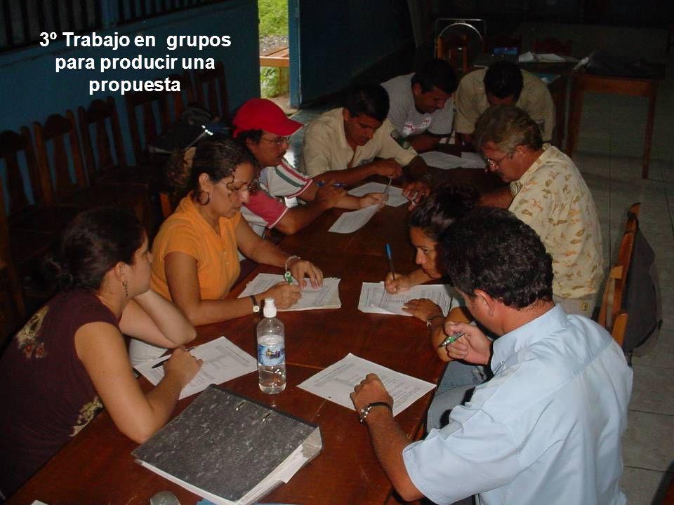 3º Trabajo en grupos para producir una propuesta