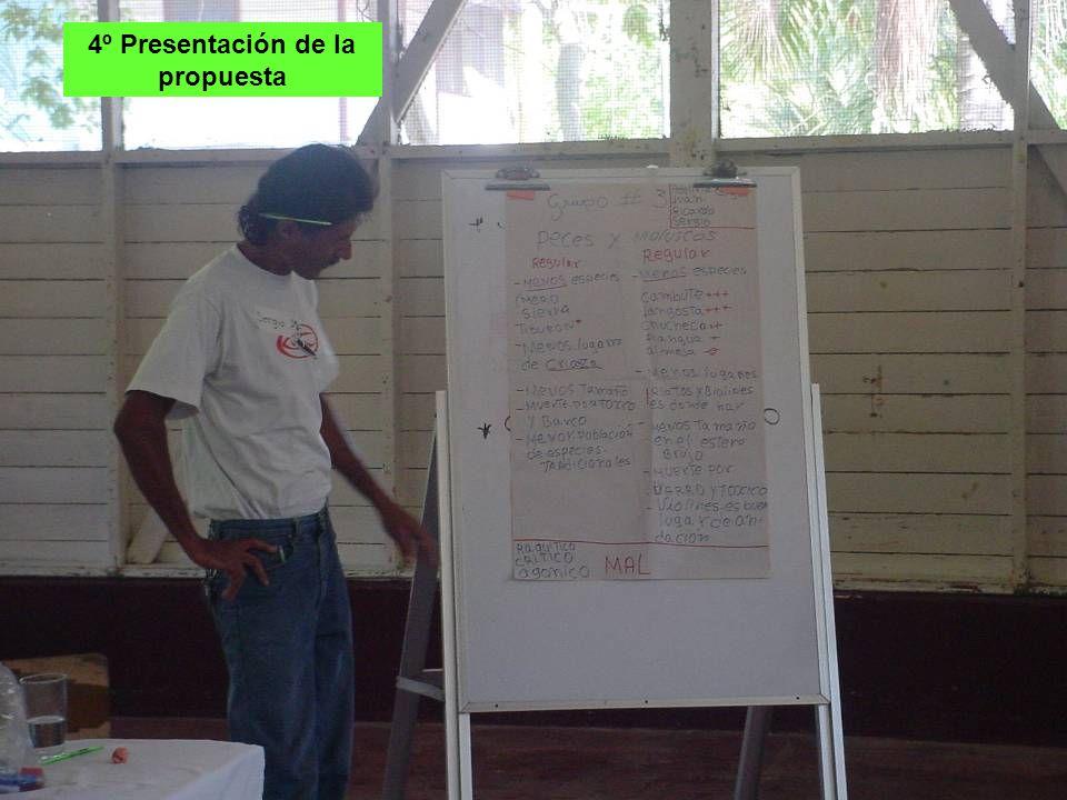 4º Presentación de la propuesta