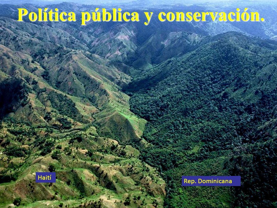 Política pública y conservación.