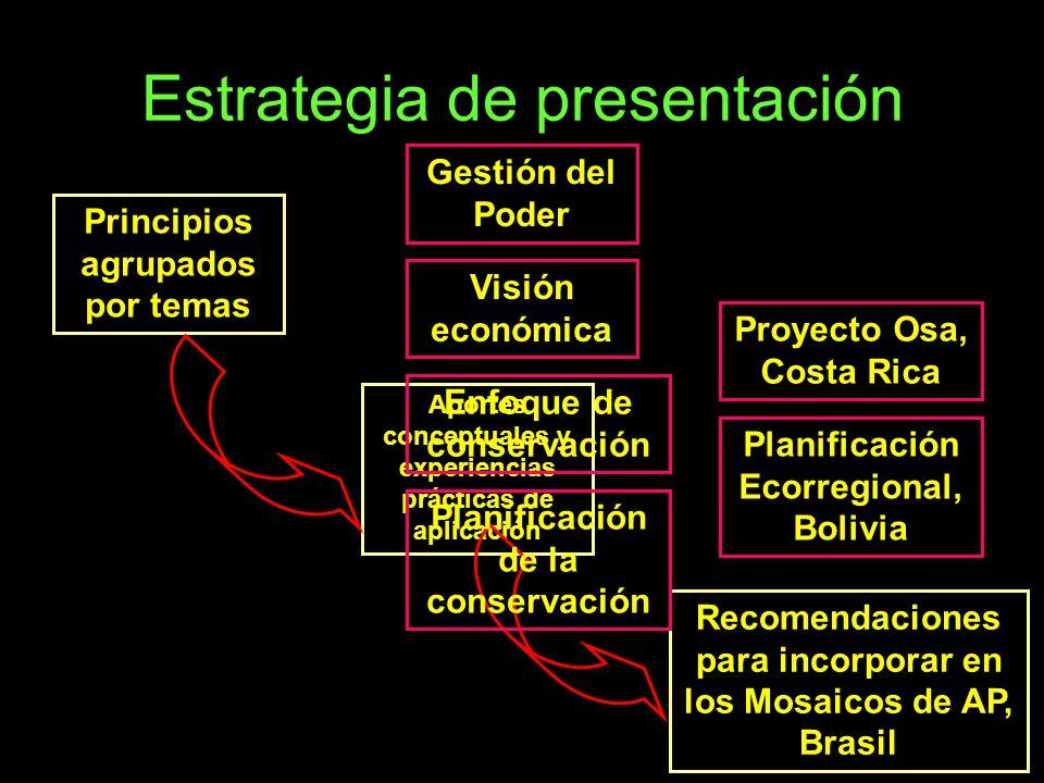 Estrategia de presentación