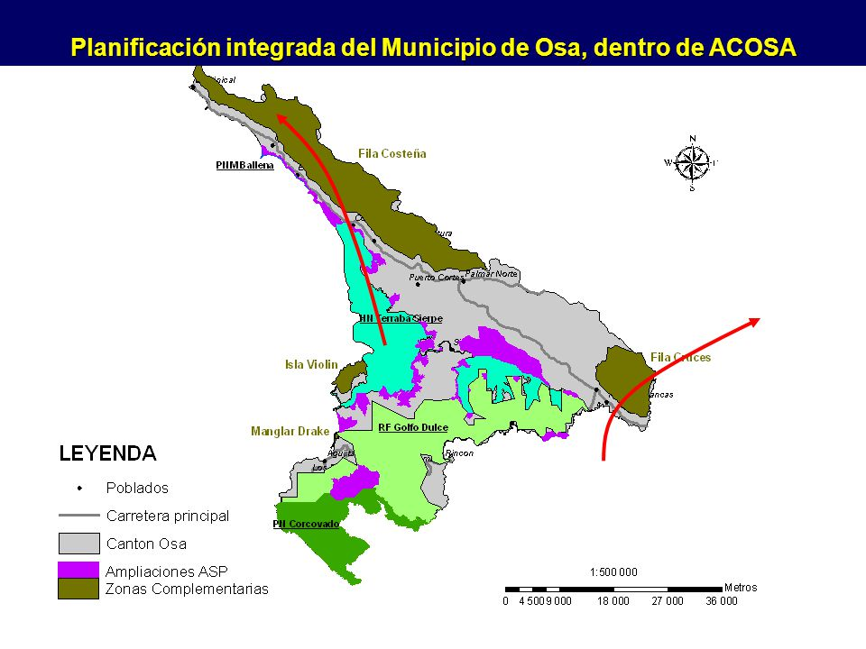 Planificación integrada del Municipio de Osa, dentro de ACOSA