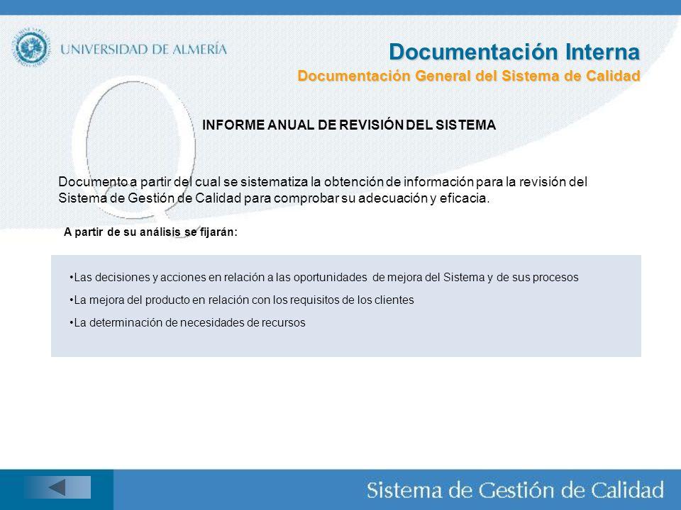 INFORME ANUAL DE REVISIÓN DEL SISTEMA