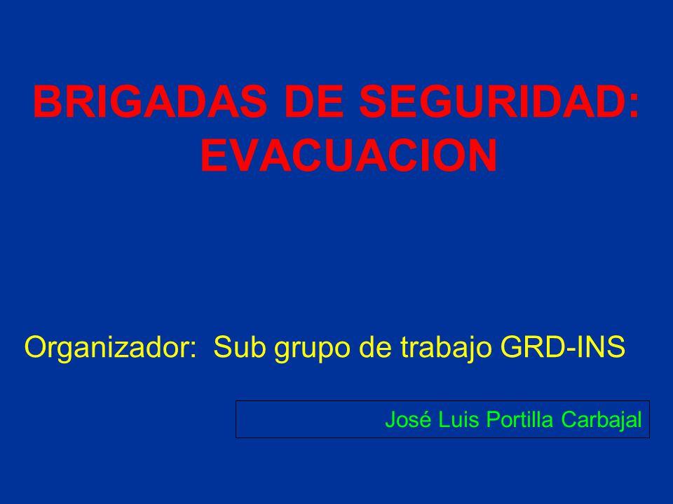 BRIGADAS DE SEGURIDAD: EVACUACION