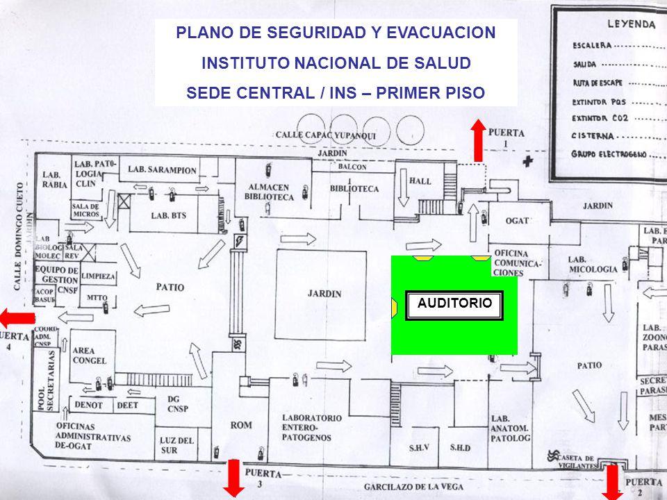 PLANO DE SEGURIDAD Y EVACUACION INSTITUTO NACIONAL DE SALUD