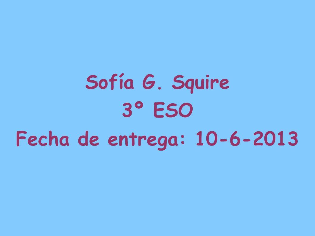 Sofía G. Squire 3º ESO Fecha de entrega: 10-6-2013