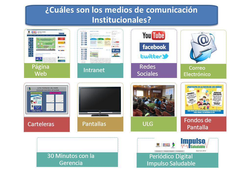 ¿Cuáles son los medios de comunicación Institucionales