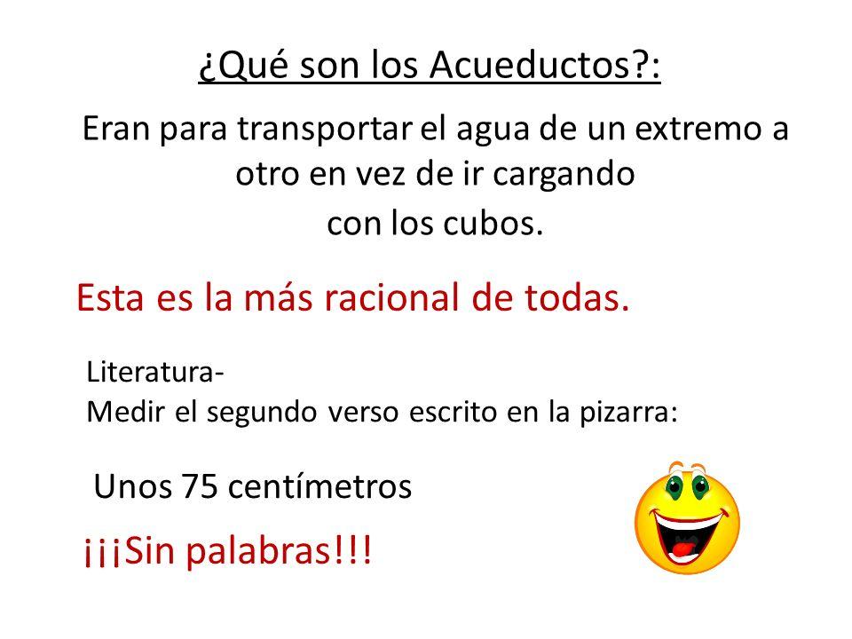 ¿Qué son los Acueductos :