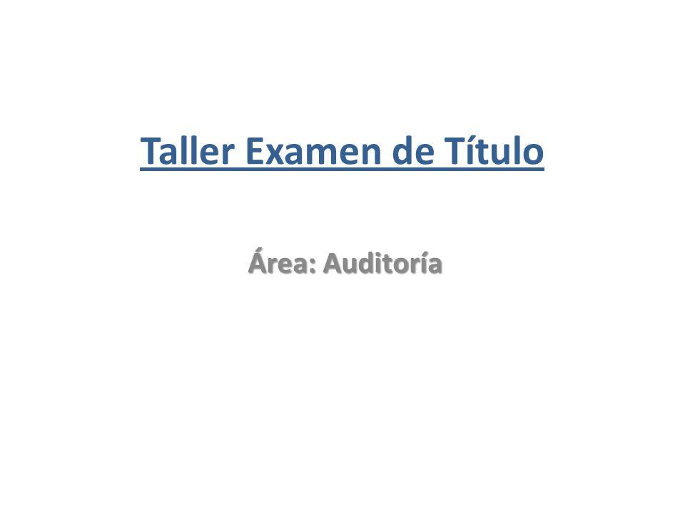Taller Examen de Título