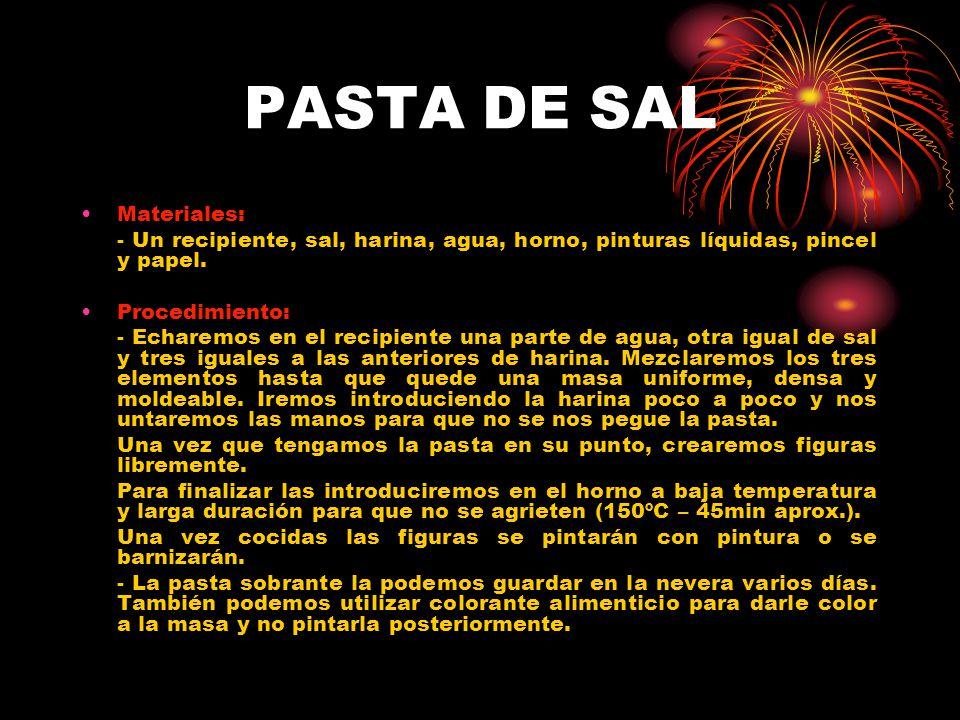 PASTA DE SAL Materiales: